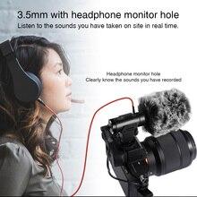 Mic 07 записывающий микрофон перезаряжаемый с ветровым стеклом Deadcat портативный чувствительный для общего пользования 3,5 мм разъем Низкий уровень шума моно студия