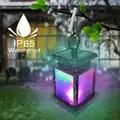 4pcs Waterproof LED Solar Garden Light Flickering Outdoor Lighting Hanging Smokeless Solar Lantern for Camping Solar Lights