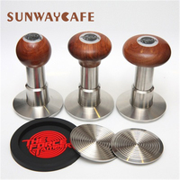 The Force Tamper 58mm Coffee Stainless Steel Press Flat Base Fixed Force Powder Hammer Hand Press Barista Coffee Accessories