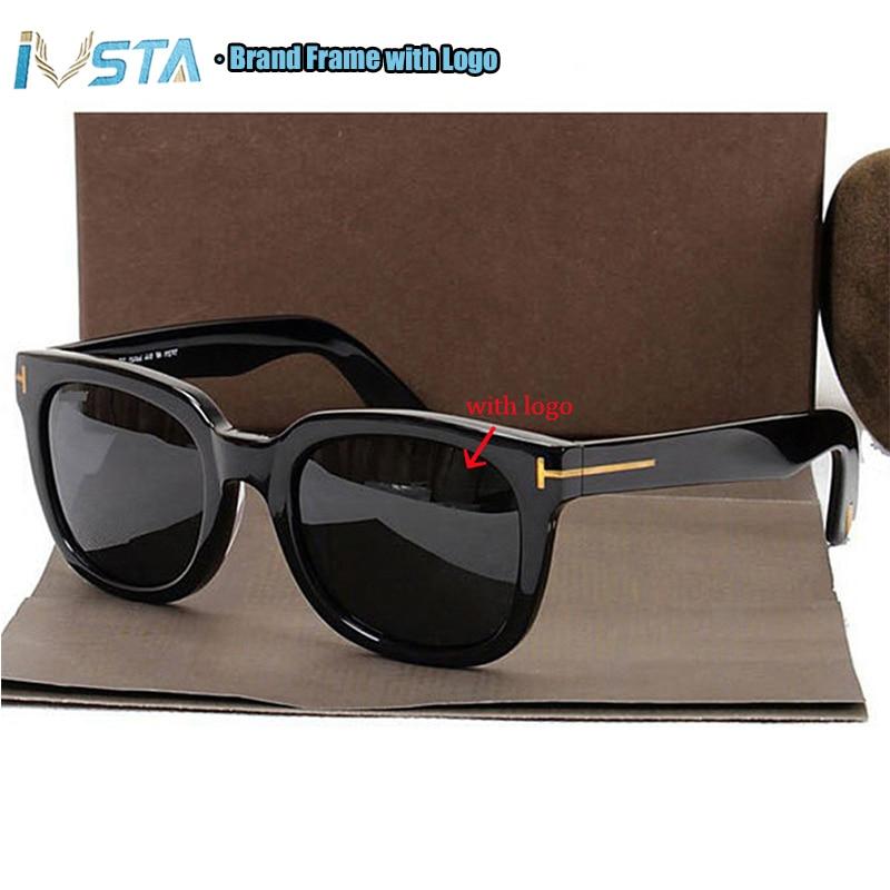 IVSTA Tom TF 211 Sunglasses with logo Real Handmade Acetate Frame Steampunk Women Men Luxury Brand Designer Oversized Big Mirror(China)
