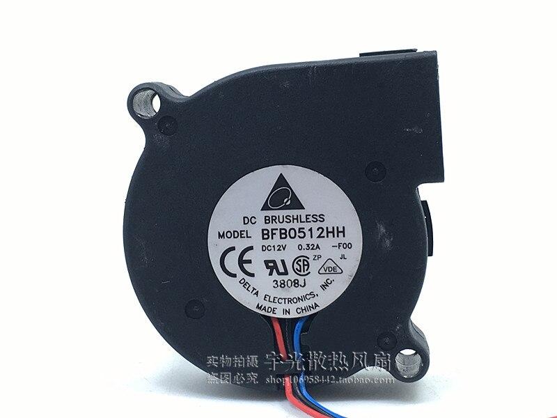 Original Delta BFB0512HH 5015 12V 0.32A 50 * 50 * 15mm Turbo Fan Centrifugal Fan Blower Fan
