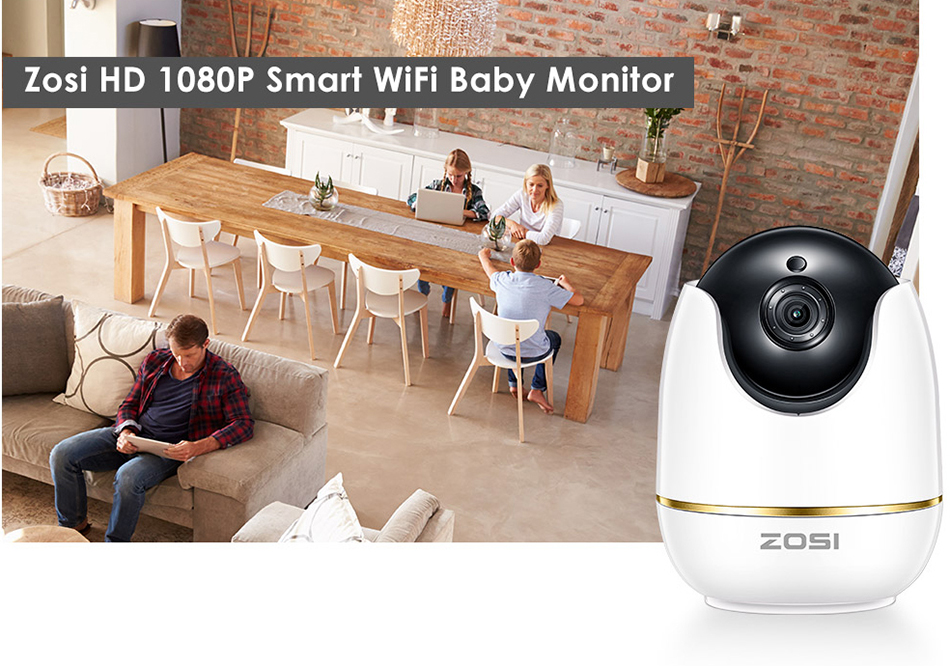 He0824cac4aae4872814d02bf8a1d6bd5A ZOSI 1080P HD Wifi Wireless Home Security IP Camera 2.0MP IR Network CCTV Surveillance Camera with Two-way Audio Baby Monitor