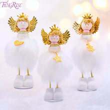 FENGRISE Cute Kawaii Christmas Angel Doll Decoration For Home 2019 Ornaments Xmas Gifts Toys Kids Navida