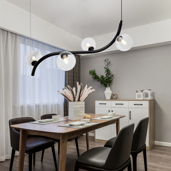Loft Nordic Pendant Lights Creative Iron Hanging Lamp Living Room Simple Restaurant Bar Industrial Kitchen 4 Heads G9 Lighting