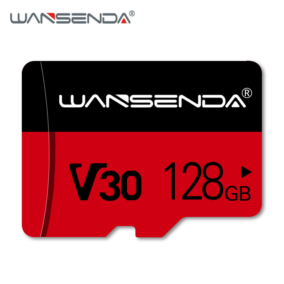 WANSENDA Memory Card V30 256GB 128GB 64GB 32GB 16GB 8GB Micro SD Card Class10 Flash Card Microsd TF Cards With Retail Package