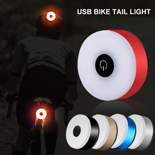 USB Bike Tail Light LED Rear IPX5 Waterproof 5 Modes Rechargeable
