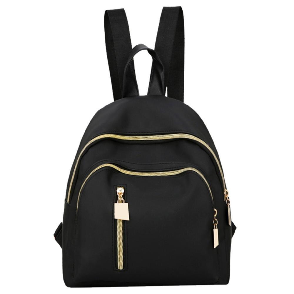 women backpack Fashion Solid Color Backpack Multi-Function Shoulder Bag Casual 9.6
