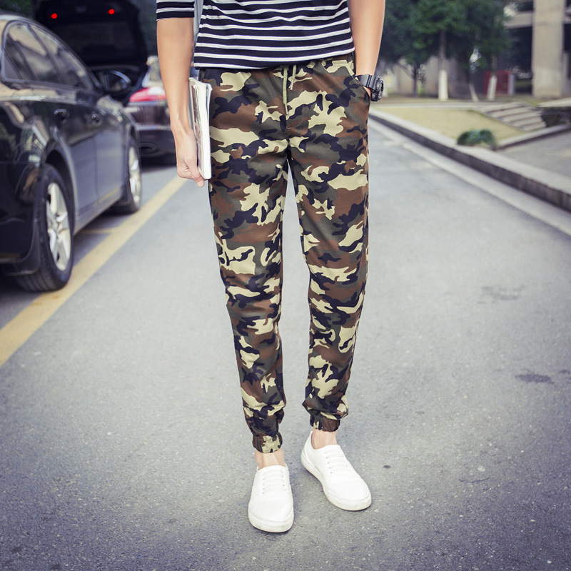 2018 Spring And Autumn New Style Plus-sized Casual Closing Foot Large Size Camouflage Military Training Pants Casual Pants M-4xl