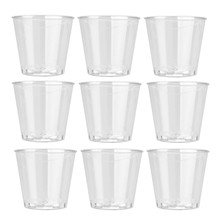 10PCS Clear Plastic Cups Disposable Shot Glasses Volume1 Ounces Hard Cups FOR Birthday Party Wedding Jelly Tumblers Cups