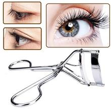 Cosmetic Eyelashes-Tool Curl Makeup White 1pc Stainless-Steel Black/silver