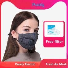 PM2.5 550mAh 충전식 필터가있는 순전히 오염 방지 에어 스포츠 마스크 3 차원 구조 우수 정화