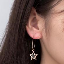 2019 New Korean Trend Personality Wild Girl Ins Pentagonal Star Pendant Earrings Ladies Jewelry Hot Sale