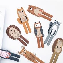 1Pcs Fridge Sticker Household Supplies Magnetic Key Holder Removable Cute Animals Traceless Refrigerator Hooks Decorative