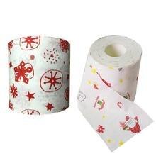 1 рулон Санта Клаус/Снежинка рождественские товары печатная туалетная бумага для ванной комнаты туалетная бумага ткани автомобиля бумажные полотенца