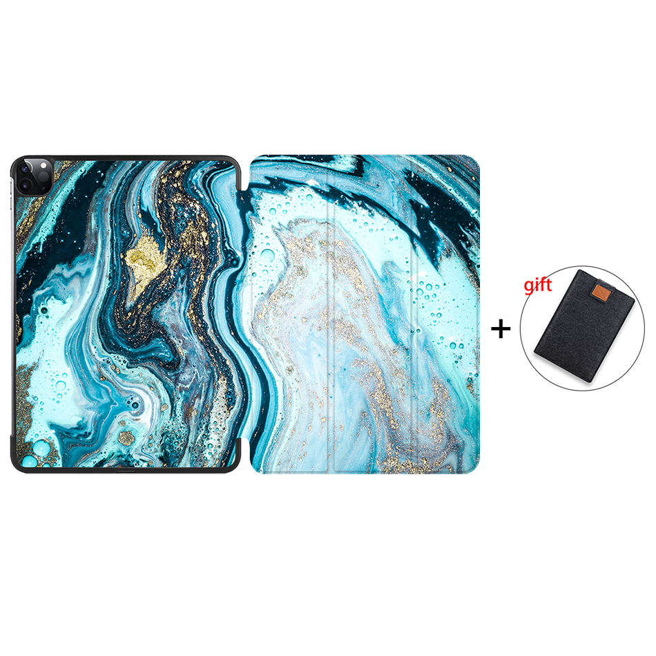 IP06 Black MTT 2020 Marble Tablet Case For iPad Pro 11 inch A2228 A2231 PU Leather Magnetic Fold