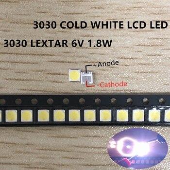 200 шт. светодиодный фонарь Lextar высокой мощности Светодиодный 1,8 Вт 3030 6 в холодный белый 150-187LM PT30W45 V1 ТВ-приложение