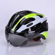 Cairbull אופניים קסדת EPS Aero Ultralight כביש MTB אופני Windproof עדשות אינטגרלי יצוק קסדת רכיבה על אופניים Casco Ciclismo 2018