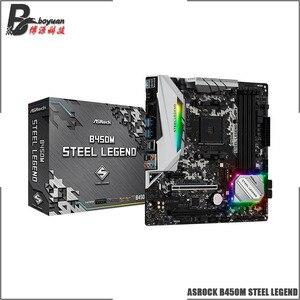 ASROCK B450M STEEL LEGEND Micro-ATX AMD B450 DDR4 3466+(OC)MHz M.2 USB3.1 New Max-64G Double Channel Socket AM4 Motherboard