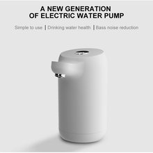 White Dolphin Automatic Touch Switch Water Bottle Pump USB Mini Charge Electric Water Dispenser Gallon Drinking Bottle Home