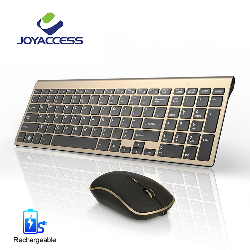 Rechargeable Keyboard Mouse Combo Wireless Keyboard Wireless Mouse Silent Button Computer Mouse Ergonomic Keyboard and Mouse Set