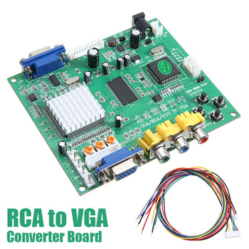 GBS8200 RCA to VGA HD Video Converter Board Plate HD9800 HD-Converter Board Advanced Video Decoding Device with Wire industrial equipment board mbpc 400 1394 pcm 3620 rev a1 converter board