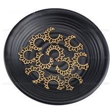 4-500 pces bronze brinco conector aberto sun encantos original metal encontrando componente para fazer joias lotes suprimentos