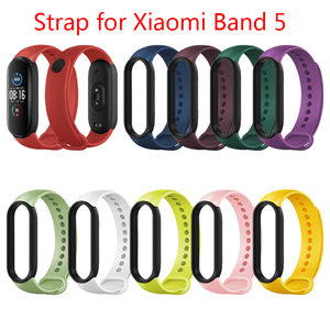 Image 2 - Pasek silikonowy dla Xiaomi Mi band 6 5 sportowe opaski wymiana miękka TPU bransoletka pasek dla xiaomi miband 6 5 pasek