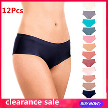 팬티의 12PCS traceless 가랑이 팬티 womens 레이스 섹시한 속옷 팬티 Seamless Cotton Panty Hollow briefs Underwear TCXJ &