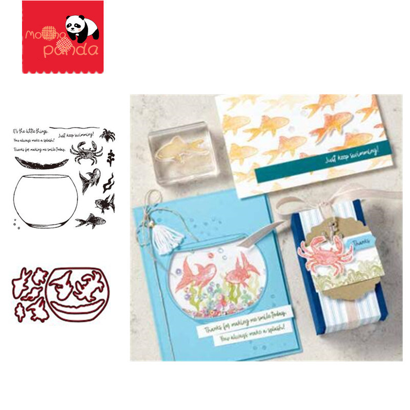 MP076 Fish Tank Metal Cutting Dies And Stamps Stencil Scrapbooking Photo Album Card Paper Embossing Craft DIY