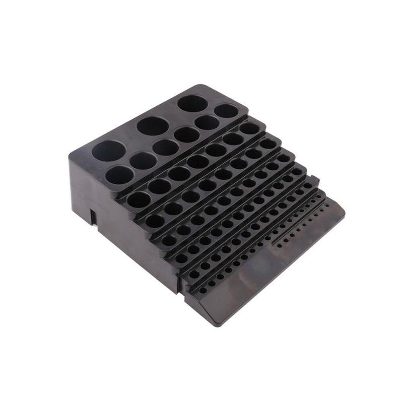 Black Drill Bit Storage Box Milling Cutter Drill Finishing Holder Organizer Case 95AA