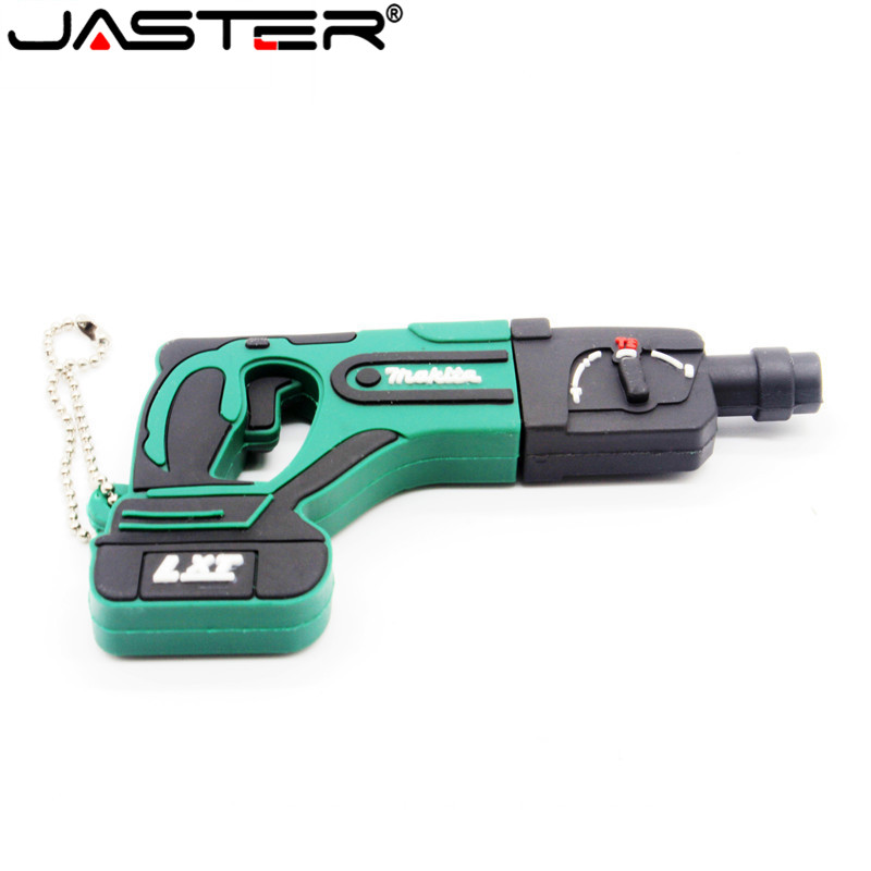 JASTER 100% Real Capacity Cartoon 2 Model Electric Drill Usb Flash Drive Usb 2.0 4GB 8GB 16GB 32GB 64GB Pendrive Cool Gift