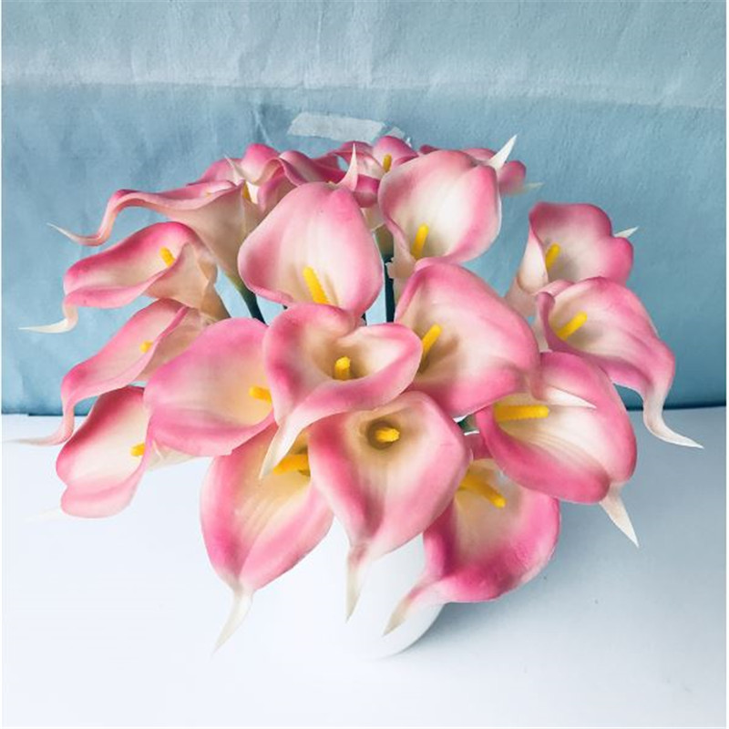 1PC PU Mini Tulips Artificial Flowers For Home And Wedding Decoration Flowers 38