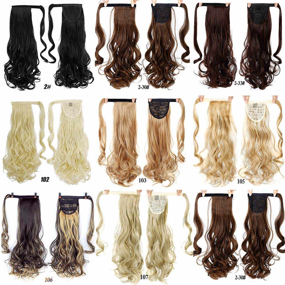 Manwei Vrouwen Lange Rechte Real Natuurlijke Paardenstaart Clip In Pony Tail Hair Extensions Wrap Rond Op Synthetisch Haar Stuk