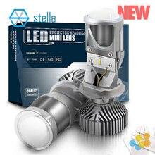 STELLA H4/9003/HB2 mini ha condotto la lampada lente di alta/anabbaglianti proiettore Faro Dellautomobile Delle Lampadine 3000k 4300k 6000k 8000k luce di lampadina per auto