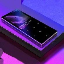Reproductor MP4 con Altavoz Bluetooth, tecla táctil integrada, 8GB, 16GB, Walkman portátil HiFi con Radio FM, grabación de música