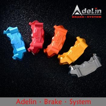 Adelin ADL-12 Motorcycle Hydraulic Brake Calipers Universal HF2 100mm 4 pistons*32mm CNC Aluminum alloy Motorcycle brake caliper