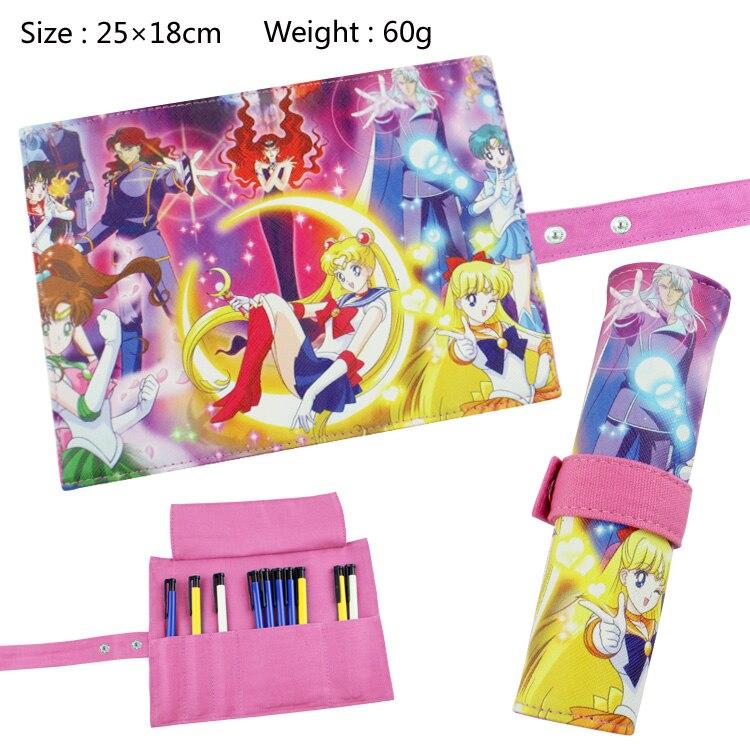 Cartoon Sailor Moon School Pencil Case Bag Anime Cosplay Pencil Bag School Pencilcase