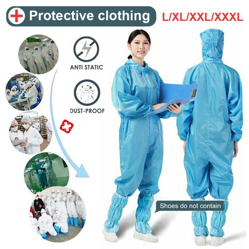 Reusable Protective Overalls Suit Splashproof Protective Isolation Clothing New