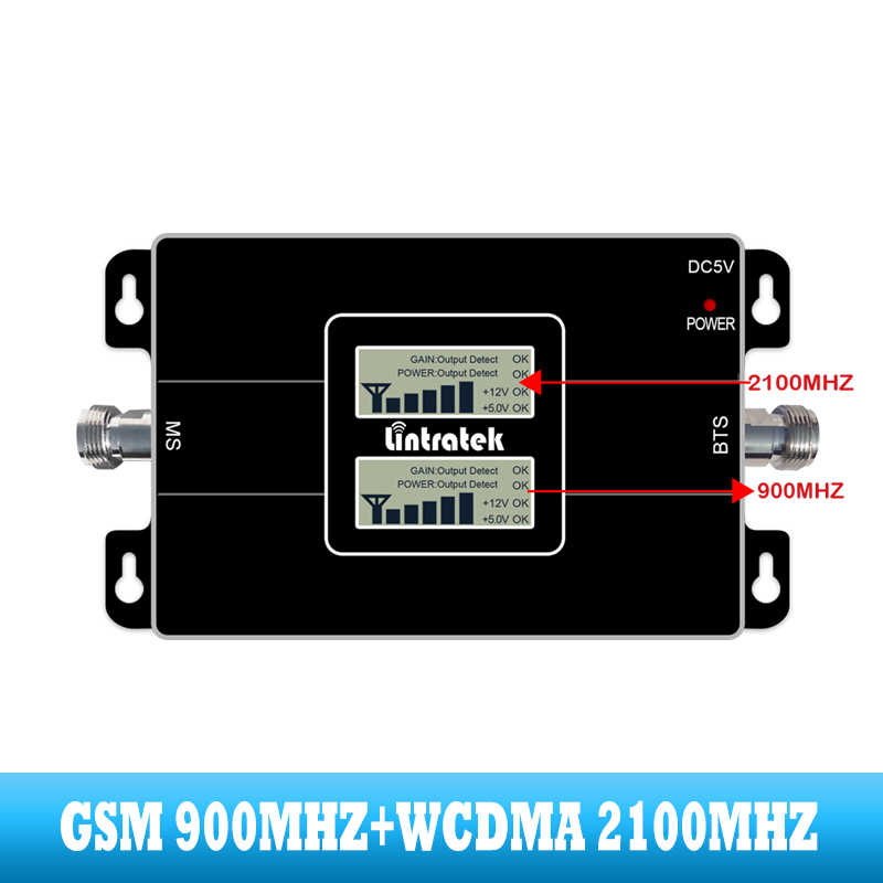 Image 2 - lintratek 2G GSM 900 3G 2100 Cell phone dual band Signal booster Cellular repeater WCDMA UMTS  internet communication amplifier-in Signal Boosters from Cellphones & Telecommunications