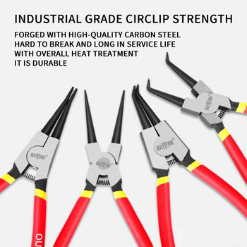 New 7in Heavy Duty Snap Ring Pliers For Removal Retaining Clip External Internal Circlip For Engine Repair  1PC 2020