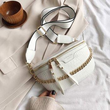 Retro Waist Bag PU Leather Fanny Pack Shoulder Bag Ladies Alligator Pattern Waist Pack Women Belt Bag Multifunctional Chest Bag 10
