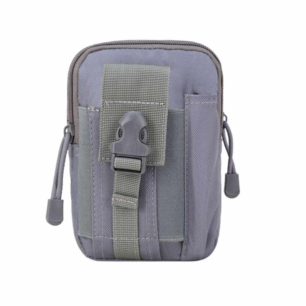 Mini bolsa de pecho para hombres y mujeres Multi-propósito soporte de herramientas con funda de teléfono celular para deportes senderismo Camping cinturón bolsas de cintura