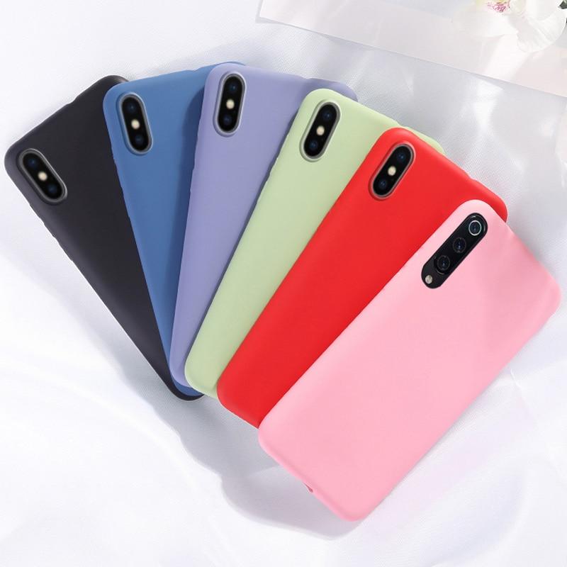 Soft Back Cover For Xiaomi Mi 9 CC9 9T Note 10 Pro CC9E A3 Lite Candy Color Silicone Phone Case For Redmi K30 K20 Note 8 Pro 8A