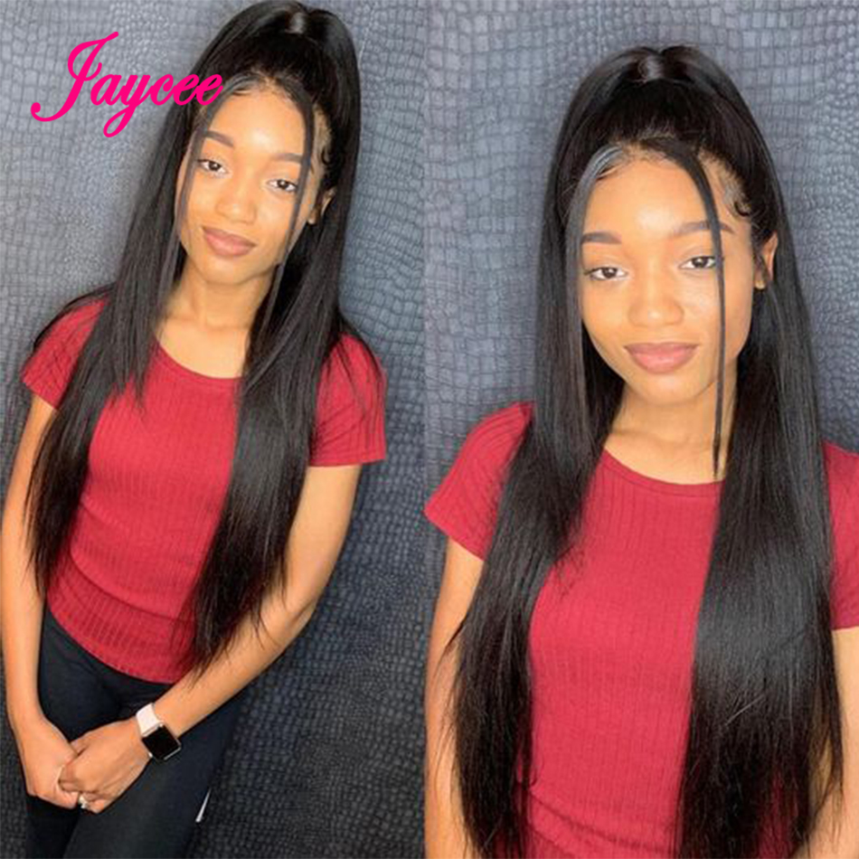 Jaycee 4x4 Lace Closure Wigs Straight Human Hair Wigs Malaysian Remy Hair Pre Plucked Hairline With Baby Hair For Black Women