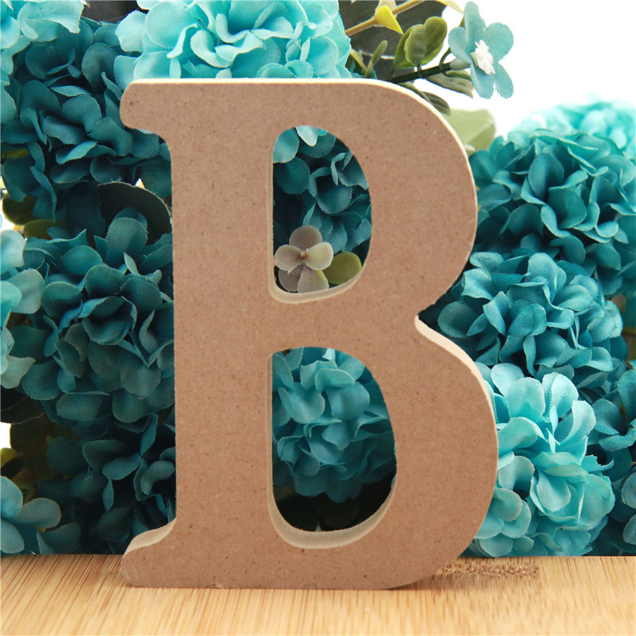 1pc 10cm Wood Color Wooden Letters Alphabet DIY Word Letter Art Crafts Standing Name Design Party Wedding Home Decor 3.94 Inches