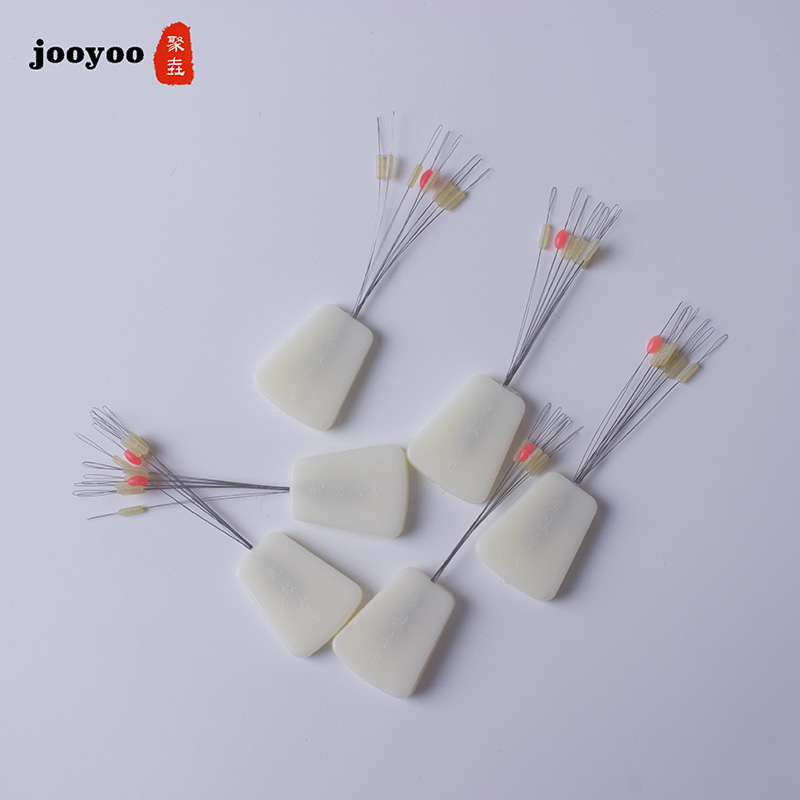80pcs 10set Luminous Float 7+1 White Rubber Stopper Fishing Floats Bobber Cylindrical Bean Space Fishing Line Tackle Equipment