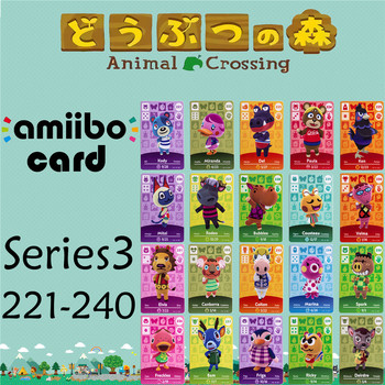 Series 3 221-240 Animal Crossing Cards Amiibo Card Work For NS Games NFC Amibo Switch Ankha New Horizons Collection Toy