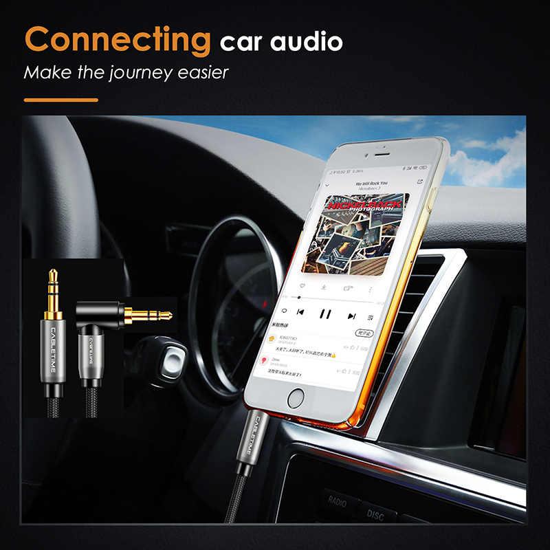 CABLETIME جاك 3.5 مللي متر ستيريو كابل مساعد زاوية الحق الصوت كابل 3.5 مللي متر سماعة الرأس كابل ل سيارة سماعات Xiaomi يدق C105