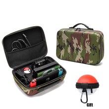 Estojo de transporte para nintendo switch, bolsa de armazenamento com camuflagem de eva e nylon à prova de choque