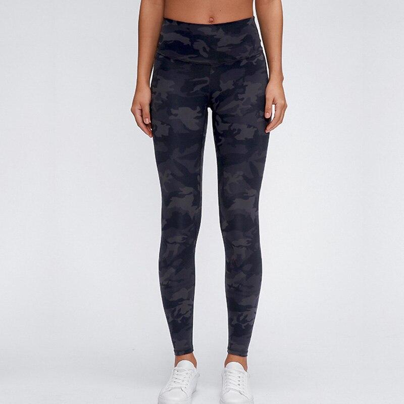 Women High Waist Black Leopard And Black Camo Print Leggings  Workout Running Leggings 4 Way Stretch Pants